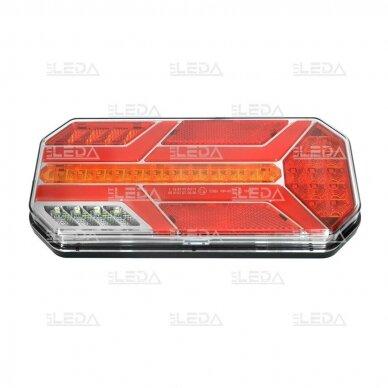 LED Galinis Žibintas 6 funkc., 12-24V, 235x110mm, dešininis 5