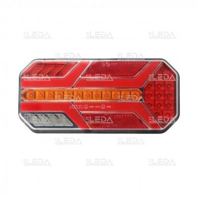 LED Galinis Žibintas 6 funkc., 12-24V, 235x110mm, dešininis