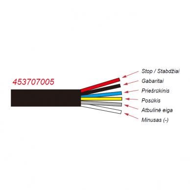 LED Galinis Žibintas 6 funkc., 12-24V, 235x110mm, kairinis 5