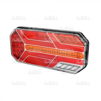 LED Galinis Žibintas 6 funkc., 12-24V, 235x110mm, kairinis 3