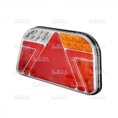 LED Galinis Žibintas 6 funkc., 12-24V, 241x140mm, dešininis 3