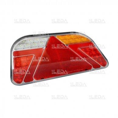 LED Galinis Žibintas 6 funkc., 12-24V, 241x140mm, dešininis 2