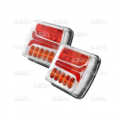LED galinių žibintų komplektas 12-24V, (su laidais)