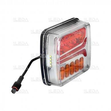 LED galinių žibintų komplektas 12-24V, (su laidais) 3