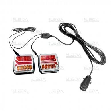 LED galinių žibintų komplektas 12-24V, (su laidais) 2