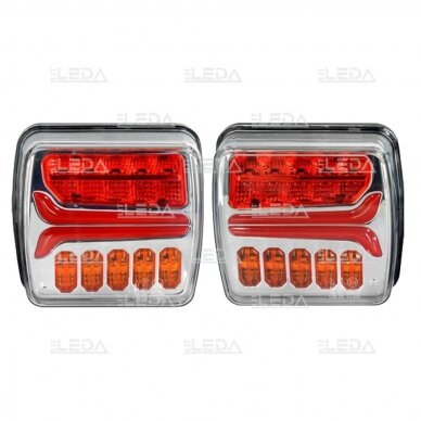 LED galinių žibintų komplektas 12V; pakraunamas, belaidis 2
