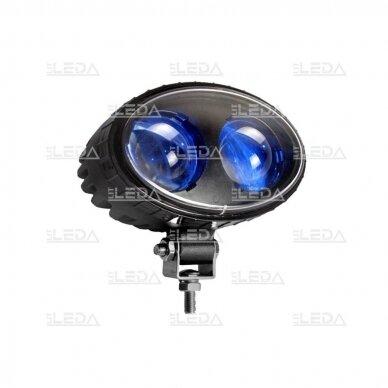 LED krautuvų žibintas 10-80V; mėlyno siauro spindulio