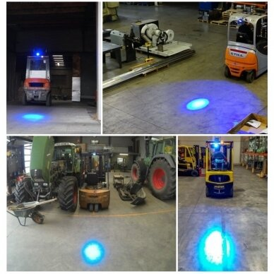 LED krautuvų žibintas 10-80V; mėlyno siauro spindulio 9
