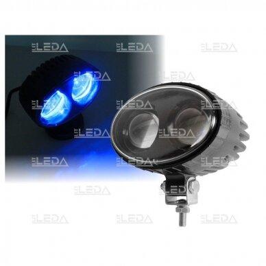 LED krautuvų žibintas 10-80V; mėlyno siauro spindulio 3