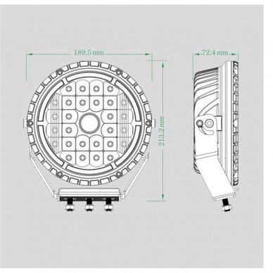 LED lazerinis darbo žibintas su DRL 90W 5