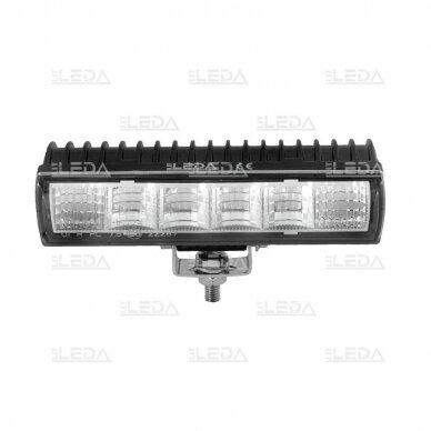 LED sertifikuotas darbo žibintas 18W; combo; OSRAM; R112, R10, EMC 3