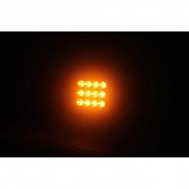 LED švyturėlis oranžinis, 10W, 12V-24V 7