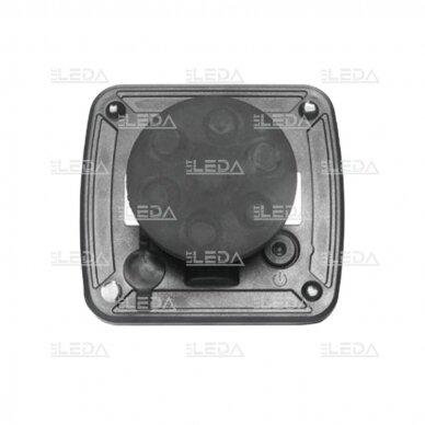LED švyturėlis geltonas, 10W, 12V-24V 5