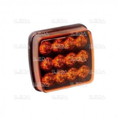 LED švyturėlis geltonas, 10W, 12V-24V 3