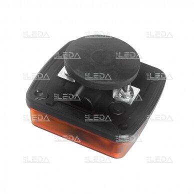 LED švyturėlis oranžinis, 10W, 12V-24V 4