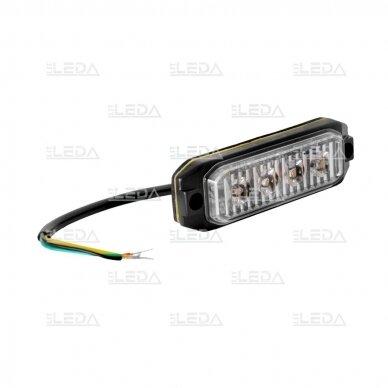 LED švyturėlis geltonas, 12W LED, 12-24V