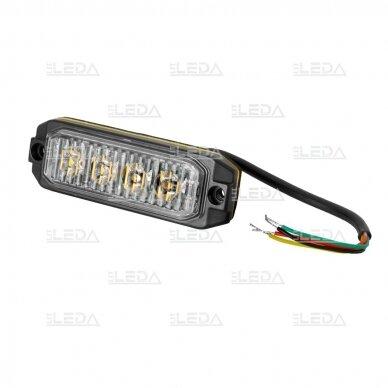 LED švyturėlis geltonas, 12W LED, 12-24V 4