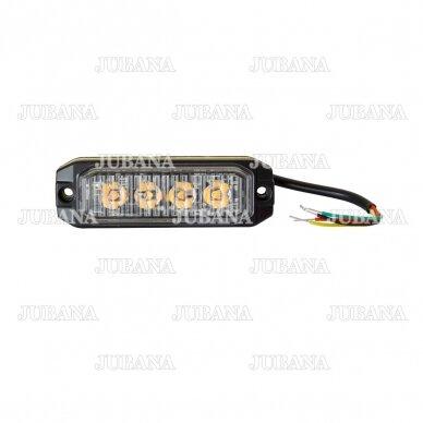 LED švyturėlis geltonas, 12W LED, 12-24V 5