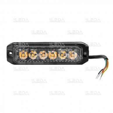LED švyturėlis geltonas, 18W LED, 12/24V 4