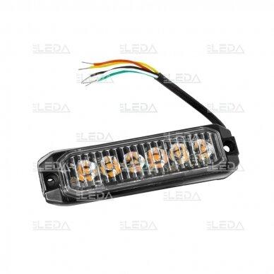 LED švyturėlis geltonas, 18W LED, 12/24V 7