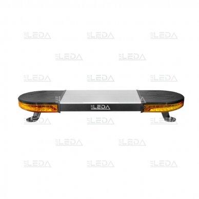 LED švyturėlis oranžinis su magnetiniu laikikliu, 60W, 12-24V 2