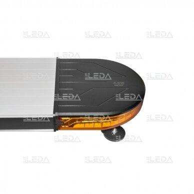 LED švyturėlis oranžinis su magnetiniu laikikliu, 60W, 12-24V 5