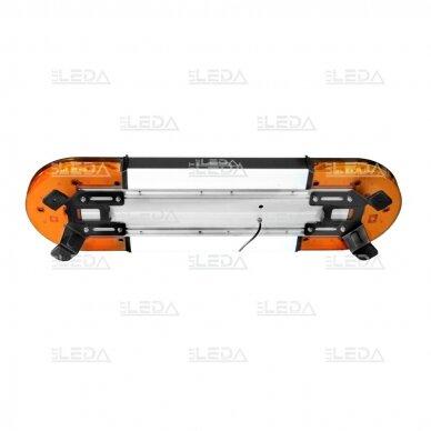 LED švyturėlis oranžinis, tvirtinamas varžtais, 60W, 12-24V 2