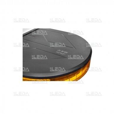 LED švyturėlis oranžinis, tvirtinamas varžtais, 60W, 12-24V 3