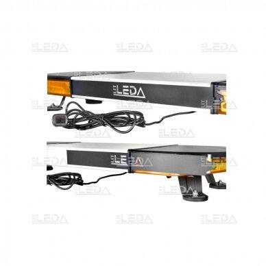 LED švyturėlis oranžinis, tvirtinamas varžtais, 60W, 12-24V 4