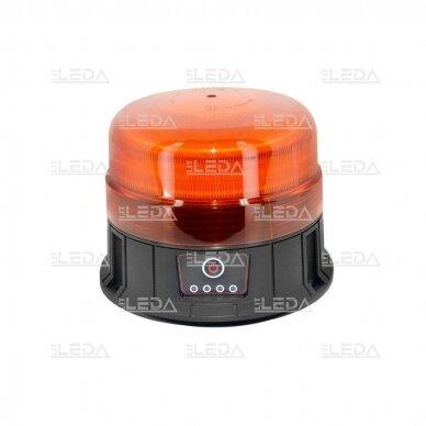 Pakraunamas LED švyturėlis oranžinis su magnetu ECE-R65