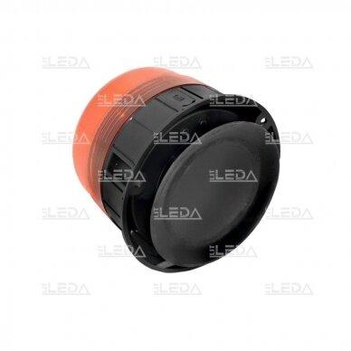 Pakraunamas LED švyturėlis oranžinis su magnetu ECE-R65 3