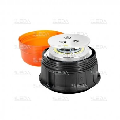 Pakraunamas LED švyturėlis oranžinis su magnetu ECE-R65 4