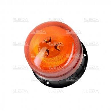 Pakraunamas LED švyturėlis oranžinis su magnetu ECE-R65 2