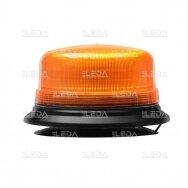 Sertifikuotas LED švyturėlis oranžinis su magnetiniu padu ECE-R65, R10 12V-24V