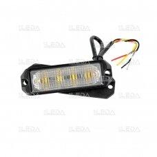 Sertifikuotas LED švyturėlis geltonas tvirtinamas varžtais, 12W, 12V-24V