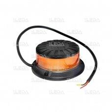 Sertifikuotas LED švyturėlis oranžinis, 3 varžtų tvirtinimas; ECE-R65, R10 12V-24V