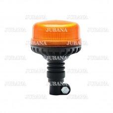 Sertifikuotas LED švyturėlis oranžinis tvirtinimas ant vamzdžio ECE-R65, R10, 12V-24V