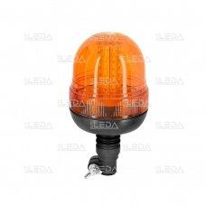 Sertifikuotas LED švyturėlis oranžinis tvirtinimas ant vamzdžio R10, 12V-24V