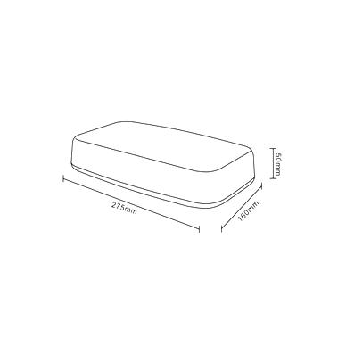 Sertifikuotas LED švyturėlis BAR oranžinis stiprus magnetinis padas 275x160x50mm, 12V-24V 5