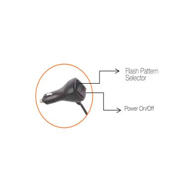 Sertifikuotas LED švyturėlis BAR oranžinis stiprus magnetinis padas 275x160x50mm, 12V-24V 4