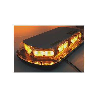 Sertifikuotas LED švyturėlis BAR oranžinis stiprus magnetinis padas 440x165x60mm, 12V-24V 2