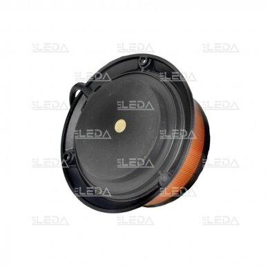 Sertifikuotas LED švyturėlis oranžinis, 3 varžtų tvirtinimas; ECE-R65, R10 12V-24V 3