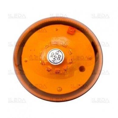 Sertifikuotas LED švyturėlis oranžinis su magnetiniu padu 12V-24V 5