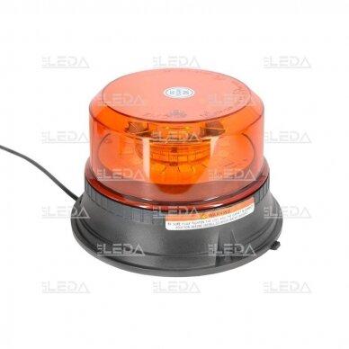 Sertifikuotas LED švyturėlis oranžinis su magnetiniu padu 12V-24V