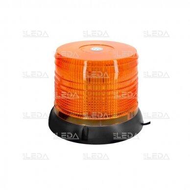 Sertifikuotas LED švyturėlis oranžinis su magnetiniu padu R10 12V-24V