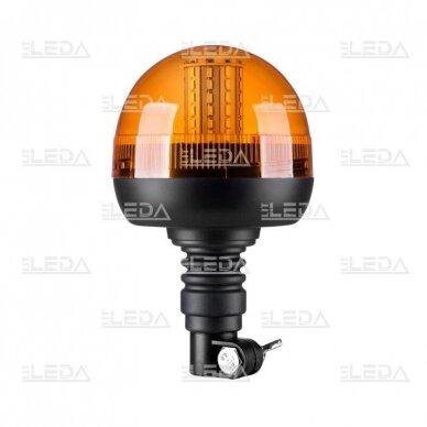 Sertifikuotas LED švyturėlis oranžinis tvirtinimas ant vamzdžio 12V-24V