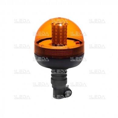 Sertifikuotas LED švyturėlis oranžinis tvirtinimas ant vamzdžio 12V-24V 2