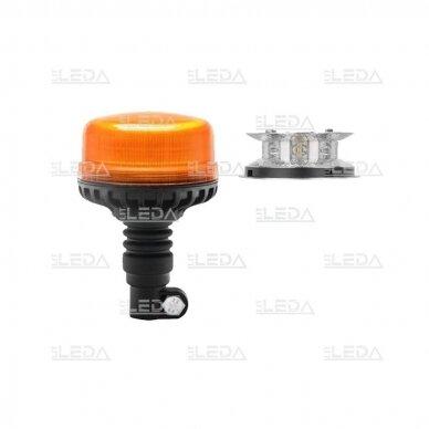 Sertifikuotas LED švyturėlis oranžinis tvirtinimas ant vamzdžio ECE-R65, R10, 12V-24V 2