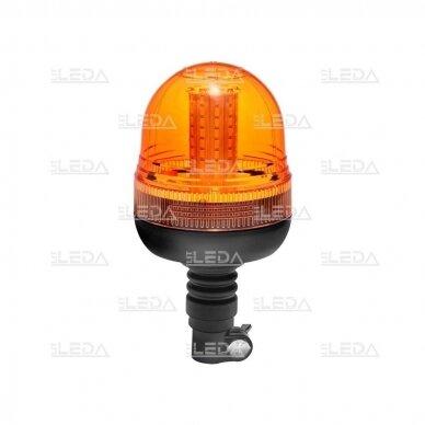 Sertifikuotas LED švyturėlis oranžinis tvirtinimas ant vamzdžio R10, 12V-24V 2
