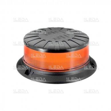 Sertifikuotas mini LED švyturėlis oranžinis su magnetu ir prisukamas ECE-R65, R10, 12V-24V